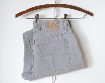 Grey Cotton Lee Jeans / 28W