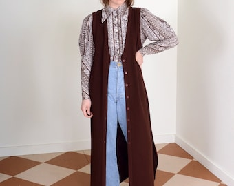 Button Front Knit Maxi Dress