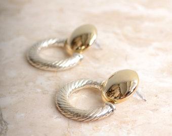 Two Tone Swivel Earrings