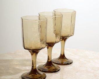 Set of Smoky Sherry Glasses