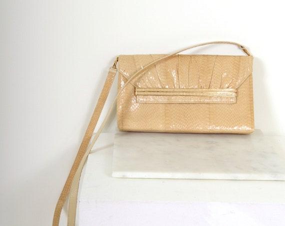 Vintage Snakeskin Crossbody Purse/Clutch