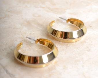 Gold Tone Hoops