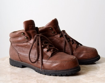 Leather Lace Up Boots / size 7