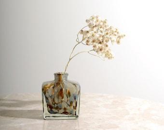 Petite Hand Blown Glass Speckle Vase