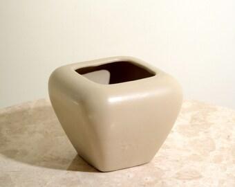 Boxy Taupe Vase