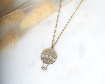 Air Balloon Charm Necklace