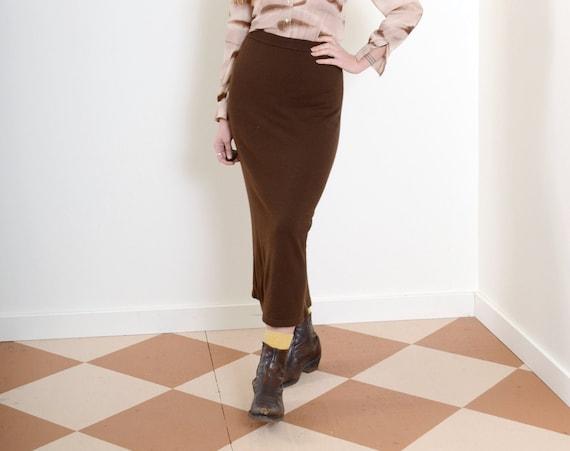 90s Knit Midi Skirt