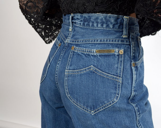 """Featured listing image: 1970s High Rise Landlubber Jeans / Made in USA / 28"""" waist"""