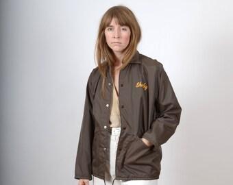 "1970s ""Shirley"" Windbreaker Jacket / by Dunbrooke / small - medium"