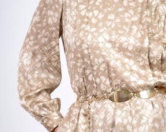 Floral Silk Shirt Dress / by Liz Claiborne / medium - large