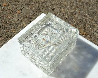 """Crystal Stash Box with Lid / 4.25"""" x 3.5"""""""