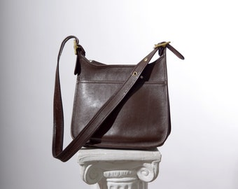Brown Leather Slim COACH Purse