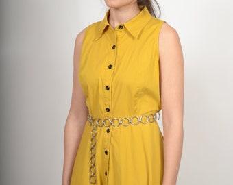 Mustard Button Dress / by Karin Stevens / medium - large