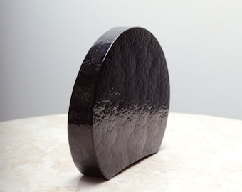 Textural Black Glass Object