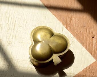 Brass Clover Trinket Box