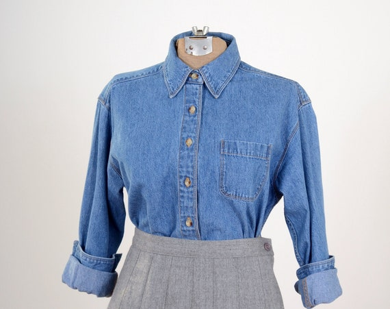 Blue Jean Button Up
