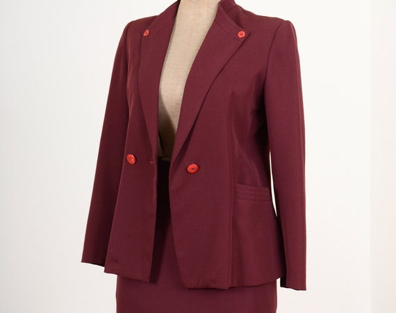Burgundy Skirt Suit