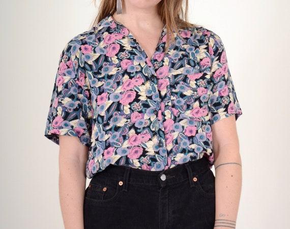 Floral Button Blouse