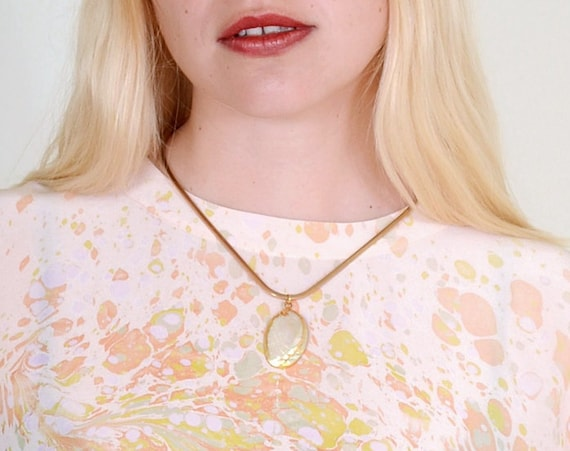 Bent Wire Necklace with Shell Charm