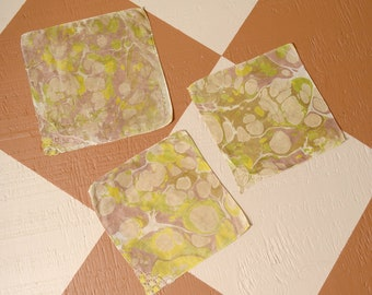 Mossy Pattern Marble Dyed Cotton Handkerchiefs