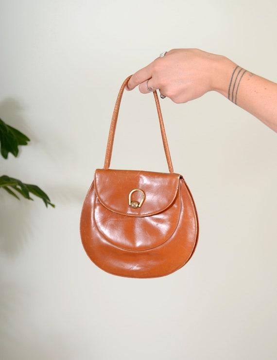 60s Brown Leather Handbag by Lennox