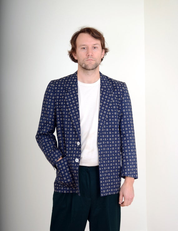 Purple Short Sleeve Blazer Boho Boyfriend Preppy Size 12 Cocktail Minimalist Lighweight Vintage 90/'s Modern Retro Summer Spring Jacket