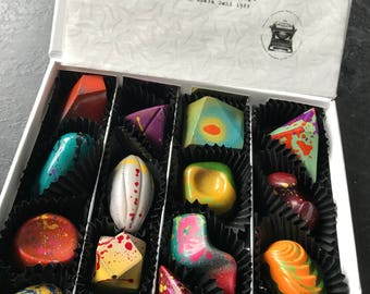 Fairy Tales, 16 chocolates box with a personal message.  Once upon A Time Collection