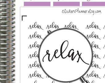 Relax Stickers Relax Planner Functional Planner Text Stickers Day Designer Stickers Erin Condren Stickers Happy Planner Daily Stickers (it6)