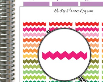 Chevron Stickers Planner Stickers for Erin Condren Planner Happy Planner Stickers Chevron Planner Functional Stickers Rainbow Stickers (i52)