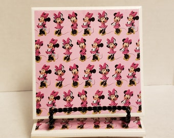 Minnie Mouse set of 4 ceramic coasters