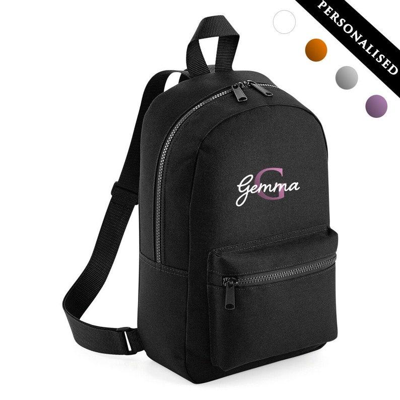 Kids Children Teenagers School Student Rucksack Back To School Bag Backpack Unisex Personalized Monogram Name Backpack