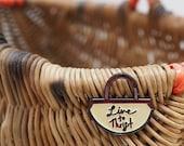 Vintage Pin Club - Live to Thrift  Basket  Enamel Pin Badge