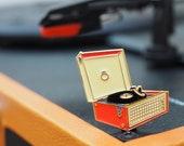 Vintage Pin Club - Dansette record player Enamel Pin Badge