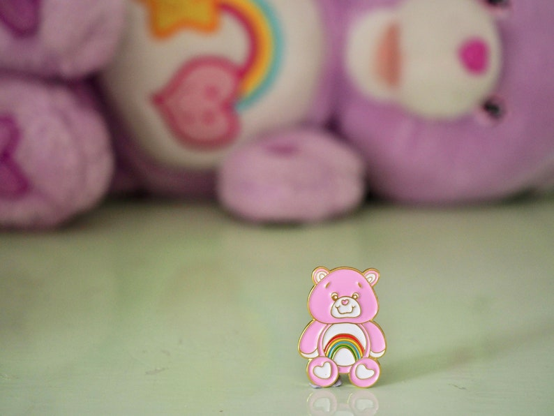 Vintage Pin Club  80s/90s Rainbow Care Bear Cheer image 0