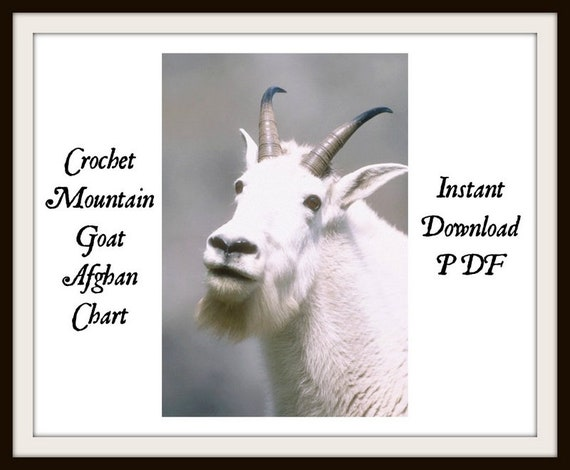 Crochet Mountain Goat Afghan Chart/INSTANT DOWNLOAD pdf/crochet/cross  stitch/embroidery/knitting/needlepoint//ladies/gift/diy/pattern/