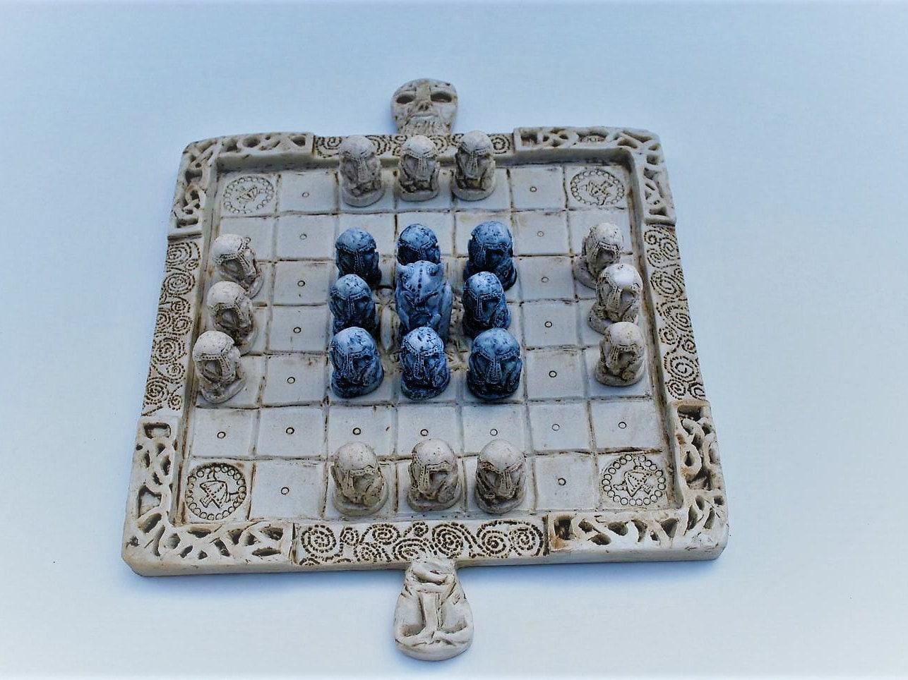 Celtic Chess Set aka. Fidchell   Etsy