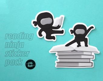 Reading Ninja Sticker Pack