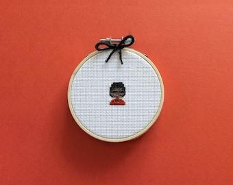 Tiny Shirley Chisholm | A cross stitch pattern PDF (instant download)