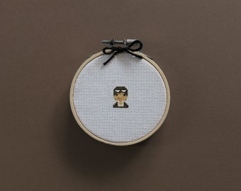 Tiny Amelia Earhart | A cross stitch pattern PDF (instant download)