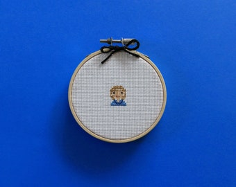 Tiny Hillary | A cross stitch pattern PDF (instant download)