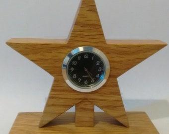 Handcrafted, Oak Wood, Mantle Clock