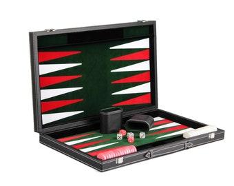 "Leather Range Backgammon Set ""malachite Green"" - 21"