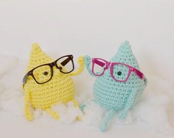 Patrón de ganchillo - amigurumi XL - crochet XL - cuida de tus gafas -