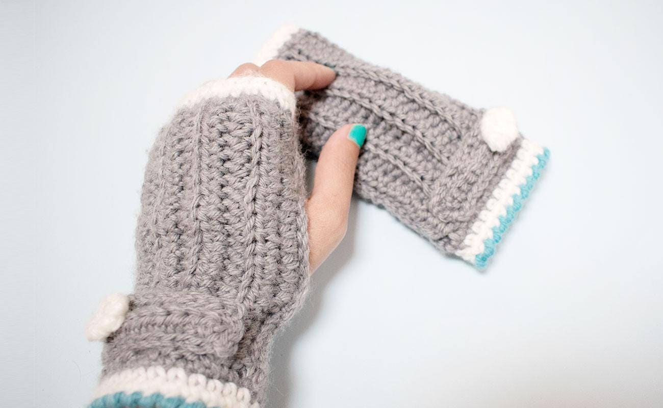 Mitones ganchillo patrón Mitones crochet Mitones mujer | Etsy
