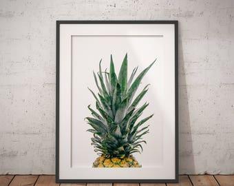 Pineapple Print, Pineapple Wall Art, Tropical Wall Art, Tropical Print, Kitchen Wall Art, Printable Pineapple Wall Art, Pineapple Poster