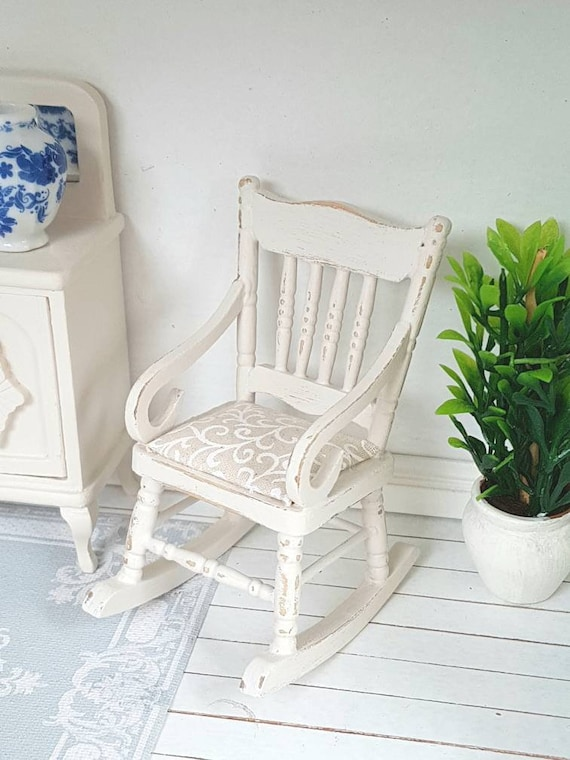 Miniature Doll Rocking Chair Accessories For Doll  Room Dollhouse DecoratioA ER