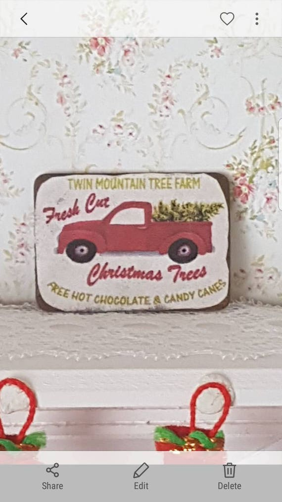 Dollhouse Miniaturesdollhouse Vintage Signchristmas Etsy
