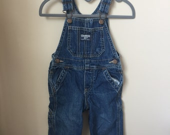 Cheap Price Kids 24 Mo Osh Kosh Denim Blue Jeans Overalls Butterfly Embroidered Farmer Baby Girls' Clothing (newborn-5t)