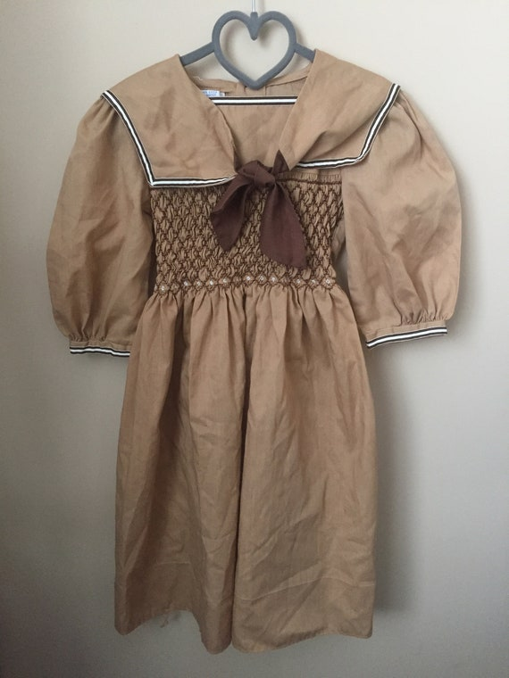 Vintage Polly Flinders Hand Smocked dress for Baby