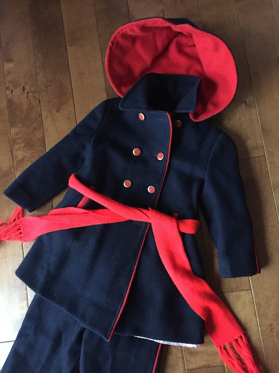 Vintage 1930s-1940s Snowsuit for Baby - 3 PIECE SE